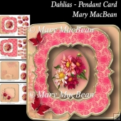 Dahlias - Pendant Card