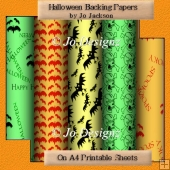 Halloween Backing Papers