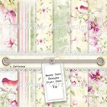 WENDY CARR DESIGNS PAPER PACK 16