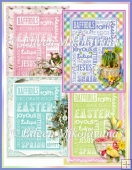 Easter Subway Art Cottage Chic Papers Set