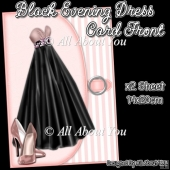 Black Evening Dress Card Front