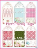 Designer Resource Floral Doily Tag Set