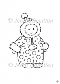 Sweet Snowbaby Digital Stamp/Line Art