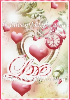 Love for All Time Valentine Backing Background Paper