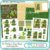 St Patty's Day Bear Card/Craft Set