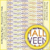 A4 Backing Paper - Happy Halloween Text 5