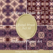 Printable Paper Bead Sheet Set 10