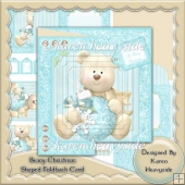 Beary Christmas Shaped Foldback Card