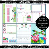 Dragonflies n Lilies Printable Journal kit