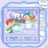 SNOW FIGHT Christmas 7.8 Decoupage & Insert Kit