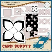 Quad Petal Shaped Fold Card Template Set � CU/PU