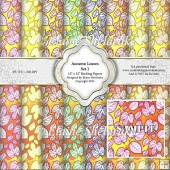 "Autumn Leaves Set 1 - Eight 12"" x 12"" Backing Papers - CU/PU"