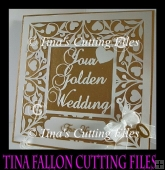 Golden Wedding Anniversary Keepsake Vinyl Or Card multi formats