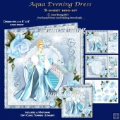 Aqua Evening Dress - 3-Sheet Mini-Kit