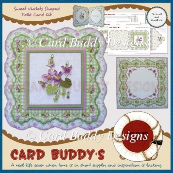 Sweet Violets Shaped Fold Card Kit