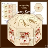 Valentine Bears Hexagonal Gift Box
