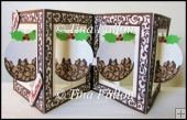 Accordian Christmas Pudding Card - multi cut file formats