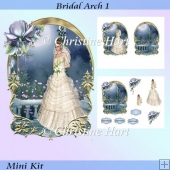 Bridal Arch 1 Shaped Wedding Card Mini Kit