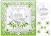 "Pearl Wedding Anniversary Recipe For Happiness - 8"" Card Topper"