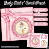 Baby Girl 7 Inch Card Front