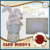 Hoppy Easter Decoupage Shaped Easel Card Kit