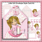 Little Girl Envelope Style Card Kit