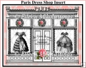 Paris Dress Shop Boutique Window Card Insert