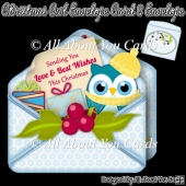 Christmas Owl Envelope Card & Envelope