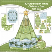 3D Great North White Christmas Tree Gift Box