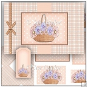Flower Basket Swing Card