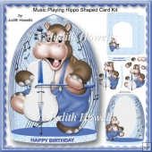 Music Playing Hippo Shaped Card Kit