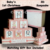 Baby Girl 1st Christmas Keepsake