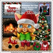 Christmas Cat Set One - Designer Resource Kit - CU - PU - PNG