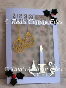 Christmas Card Template Candlestick