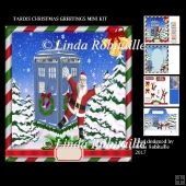 Tardis Christmas Greetings Mini Kit