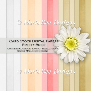 Pretty Bride Card Stock Digital Papers
