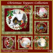 Christmas Toppers Collection Bumper Kit with Sentiments