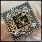 Silver Wedding Anniversary Keepsake 12x12 multi formats