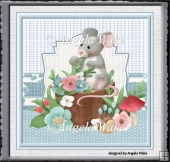 Forest mouse 7x7 card