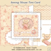 Sewing Mouse Tent Card
