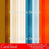 Day at the Beach A4 size Cardstock Digital Papers Package