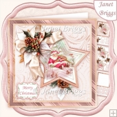 SLEEPY SANTA 7.5 Christmas Decoupage & Insert Mini Kit