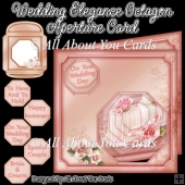 Wedding Elegance Octagon Aperture Card