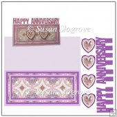 Crystal Happy Anniversary Slit Greeting Card