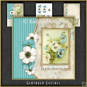 Vintage Flowers and Butterflies Card Kit 1064