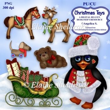 Christmas Toys A Designers Resource For CU/PU For Paper Crafts