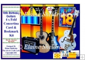 18th Birthday Guitars - Over The Edge Concertina Card Kit
