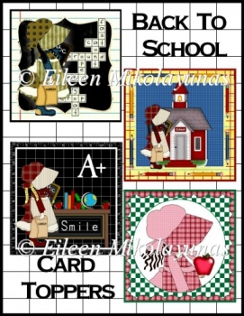Back To School Card Toppers