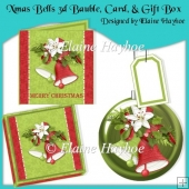 Xmas Bells 3d Bauble Card & Gift Box