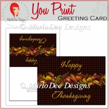 Fall Leaves Happy Thanksgiving Full Card & Card Front